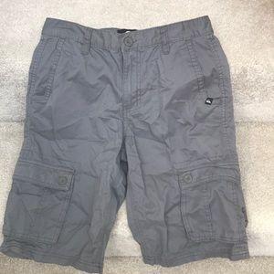 QUICKSILVER Gray Shorts Size 27. Boys.